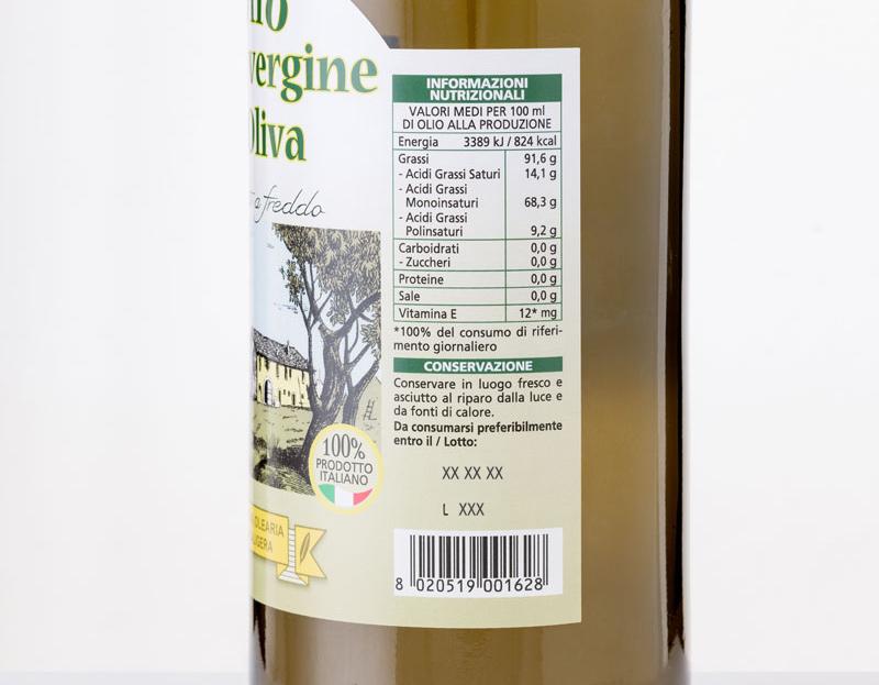 Come leggere l'etichetta di una bottiglia d'olio